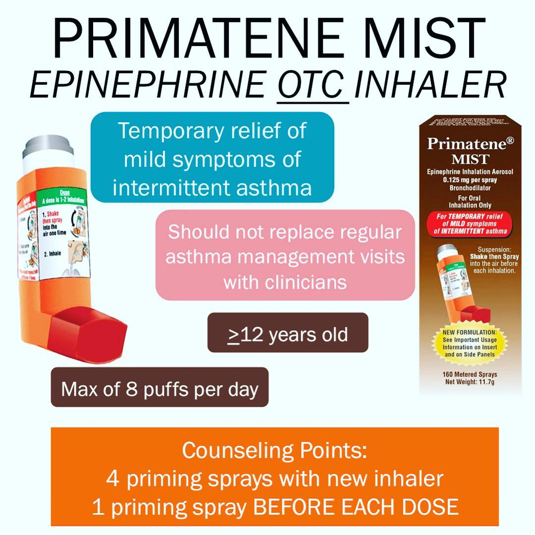 Primatene Mist Epinephrine Otc Inhaler Primatene Mist Was Approved In November