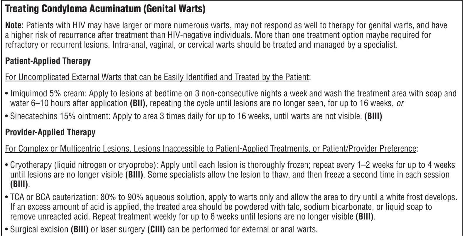 Condyloma acuminata treatment guideline. Pastile gânditoare pentru viermi umani